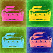 Ferrari Front Pop Art 3 Poster by Naxart Studio