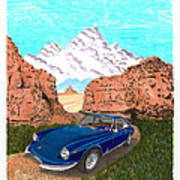 1969 Ferrari 365 G T C In The Mountains 1969 365 G T C Poster