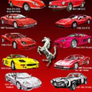 Ferrari Sports Car Poster  Poster