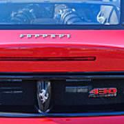 Ferrari Scuderia 430 Rear Emblems Poster