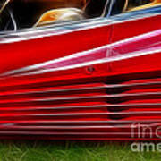 Ferrari Testarossa Red Poster