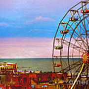 Ocean City New Jersey Ferris Wheel And Music Pier Poster