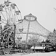 Ferris Wheel And R F P Pavilion - Spokane Washington Poster