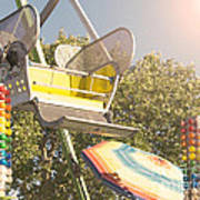 Ferris Wheel Bucket Poster by Cindy Garber Iverson