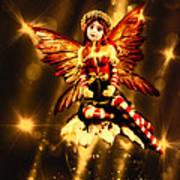 Festive Amber Fairy Poster