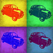 Fiat 500 Pop Art 1 Poster by Naxart Studio