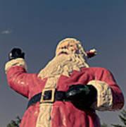 Fiberglass Santa Claus Poster