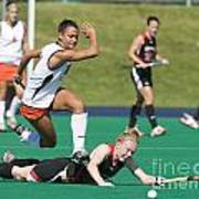 Field Hockey Hurdle Poster