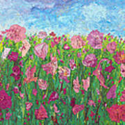 Field Of Pink For The Ladies Poster