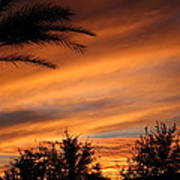 Fiery Arizona Sunset Poster