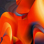Fiery Color For Iphone Art Poster