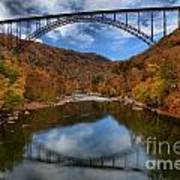 Fiery Colors At New River Gorge Bridge Poster