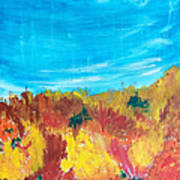 Fiery Fall In The Hills Poster