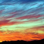 Fiery July Sunset Poster