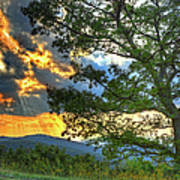 Fiery Sunset In The Blue Ridge I Poster