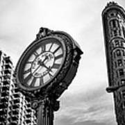 Fifth Avenue Building Clock Poster