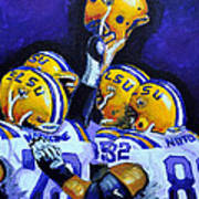 Fighting Tigers Of Lsu Poster by Terry J Marks Sr