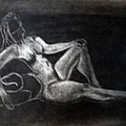 Figure Drawing Poster by Corina Bishop