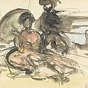 Figure Study Two Women Seated Poster