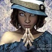 Fille Au Chapeau Poster