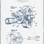Film Camera Patent Drawing From 1938 - Blue Ink Poster