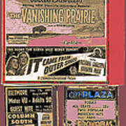Film Homage Collage Drive-in Ads 1953 Tucson Arizona 2008 Poster