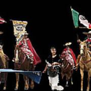Film Homage Ride Vaquero 1953  2 Hispanic Riders  Rodeo Parade Tucson  Az 2002-2008 Poster
