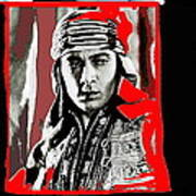 Film Homage Rudolph Valentino The Shiek 1921 Collage Color Added 2008 Poster
