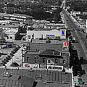 Film Homage Ted Degrazia Cine Plaza Theater  Blue W. Congress Tucson Arizona 1936-2008 Poster