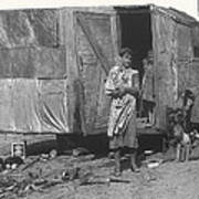 Film Homage The Grapes Of Wrath 1 1940 Family In Shack Perhaps Eloy Arizona 1940-2008 Poster