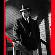 Film Noir John Huston Humphrey Bogart The Maltese Falcon 1941 Color Added 2012 Poster