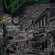 Film Noir Lee Marvin Sylvia Sidney Violent Saturday 1956  C.1885 Bisbee Az Drawing Color Added 2008 Poster