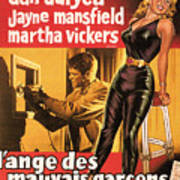 Film Noir Poster  The Burglar Jane Mansfield Poster