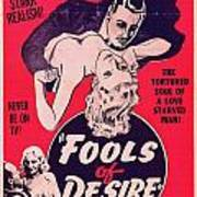 Film Poster Fools Of Desire 1930s Poster