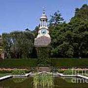Filoli Garden With Pond Poster