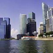 Financial District Of Singapore And View Of The Water Poster