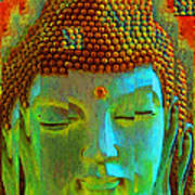 Finding Buddha - Meditation Art By Sharon Cummings Poster by Sharon Cummings