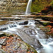 Finger Lakes Waterfall Poster