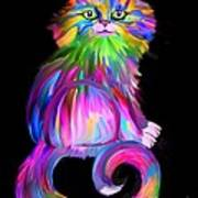 Finger Painted Cat Poster