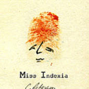 Finger Prints 1998 Forensic Whimsy Miss Indexia Poster
