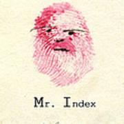 Finger Prints 1998 Forensic Whimsy Mr. Index Poster