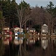 Finn Village On Demond Pond - Rutland Massachusetts Poster