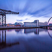 Finnieston Crane And Glasgow Arc Poster by John Farnan