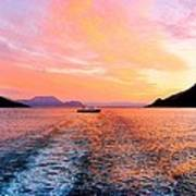 Fiord Sunset  Poster