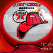 Fire Chief Gasoline Globe Poster