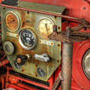 Fire Department Tanker Controls Poster