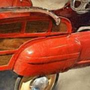 Fire Engine Pedal Car Poster