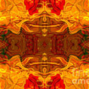 Fire In The Sky Abstract Pattern Artwork Poster