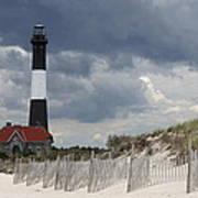 Fire Island Light From The Beach Poster