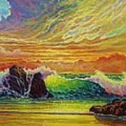 Fire Storm Sunset Poster
